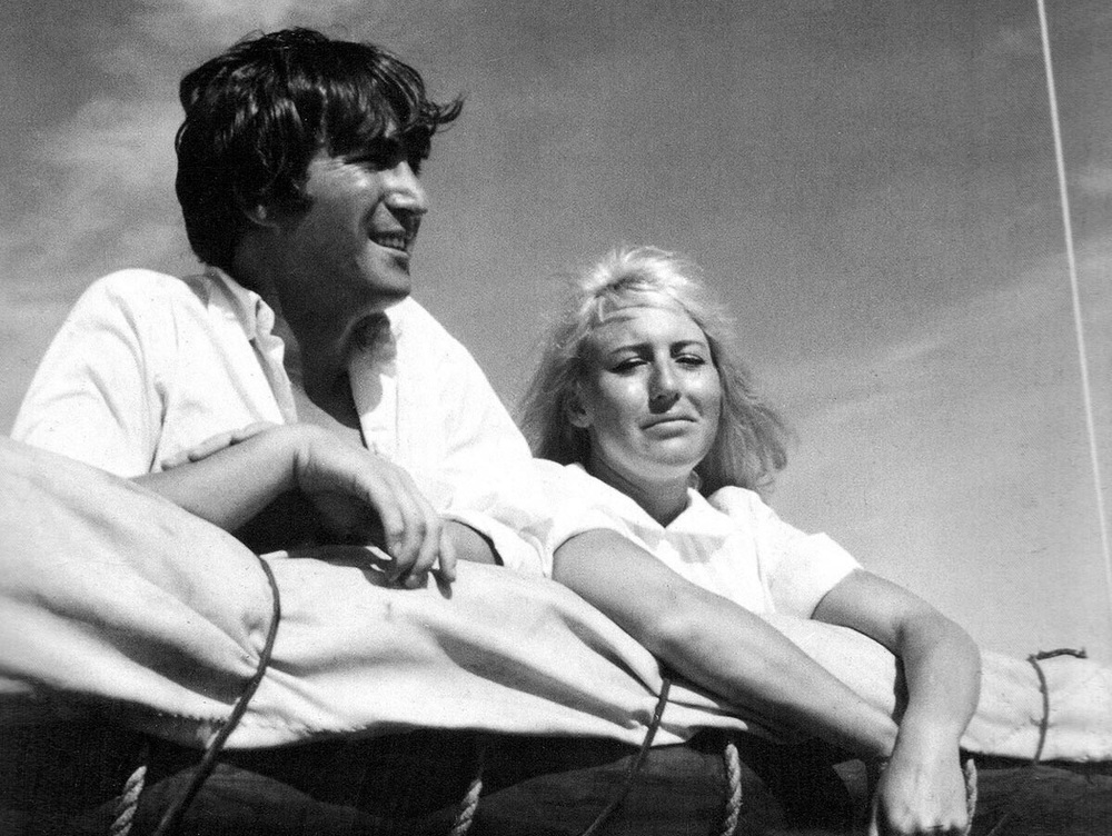 John and Cynthia Lennon photographed in Tahiti, May 1964.