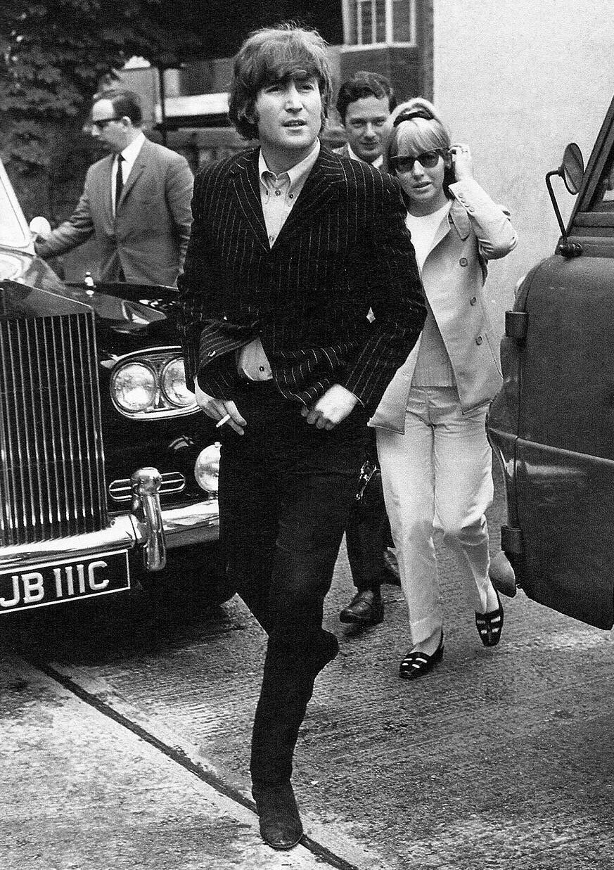 John and Cynthia Lennon with Brian Epstein, circa 1965.
