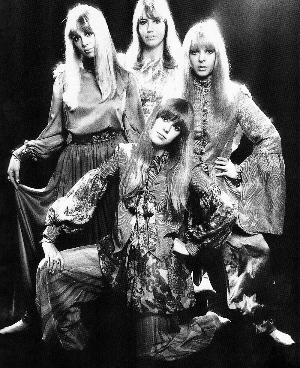 Pattie Boyd, Cynthia Lennon, Maureen Starkey and Jenny Boyd, circa 1967.
