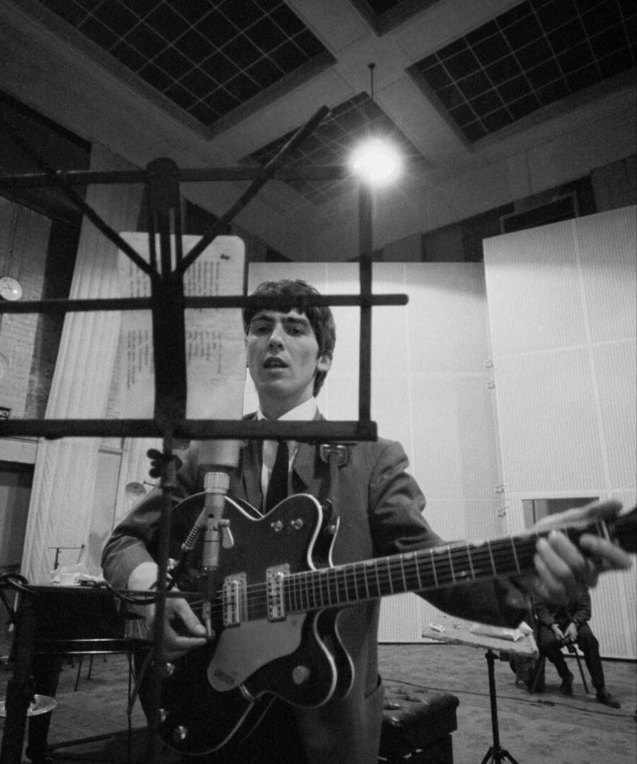George Harrison at Abbey Road, 1964.