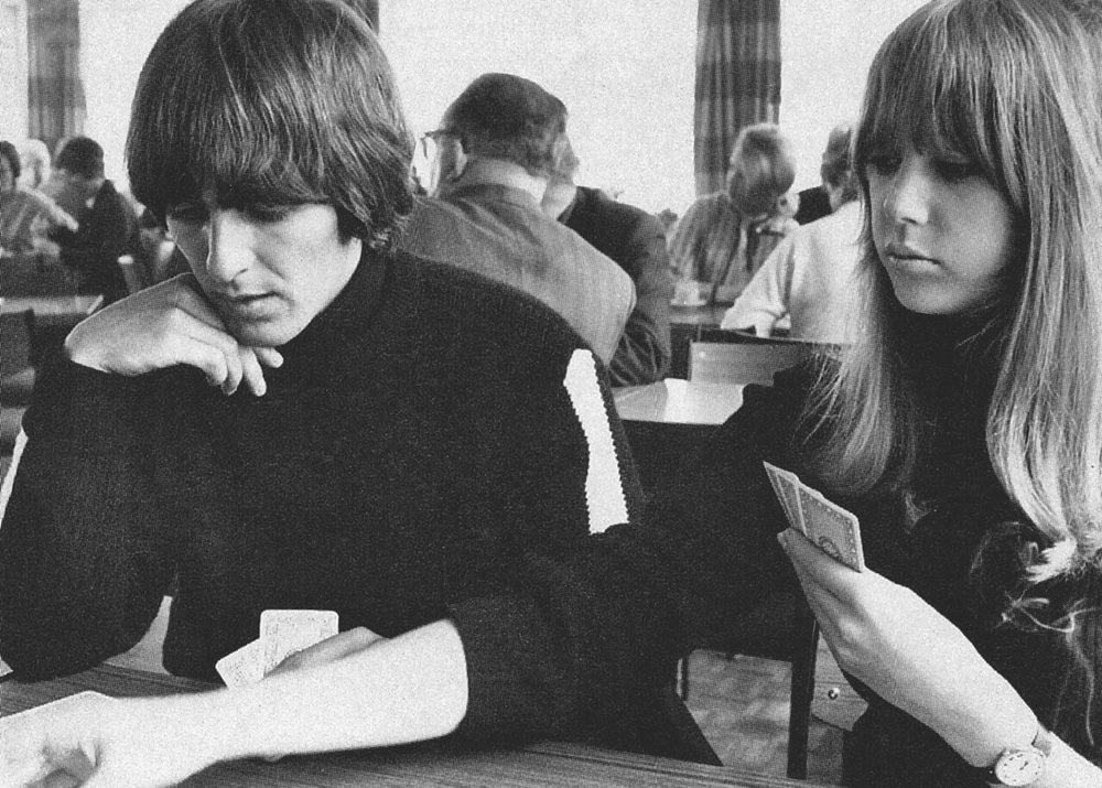 George Harrison and Jenny Boyd, circa 1965.