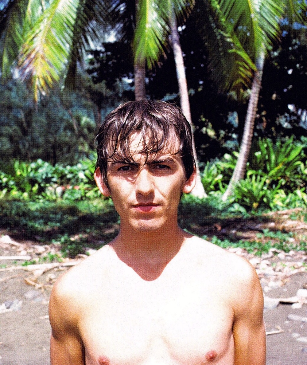 George Harrison in Tahiti, 1964.