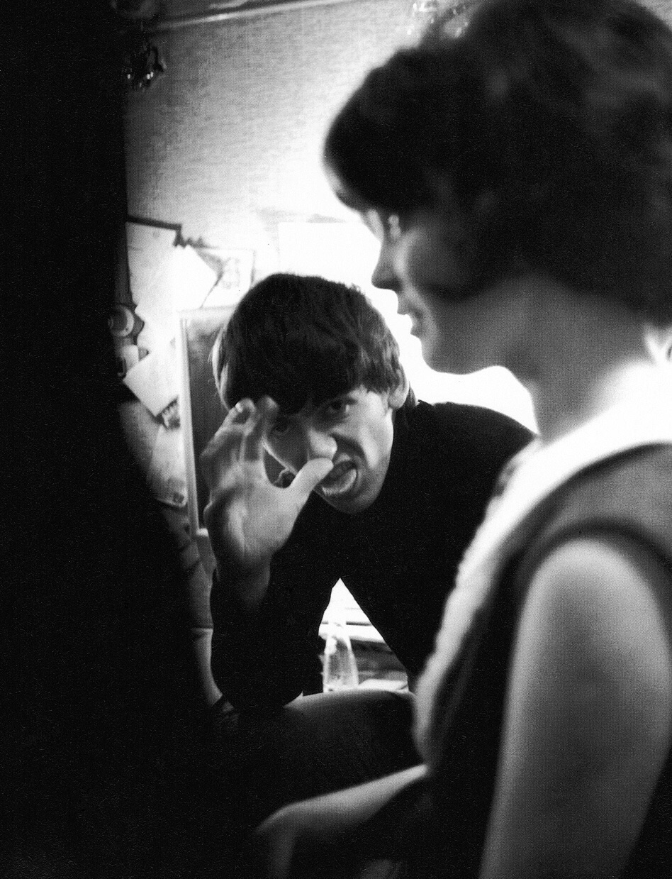 George Harrison playing the fool, circa 1963.