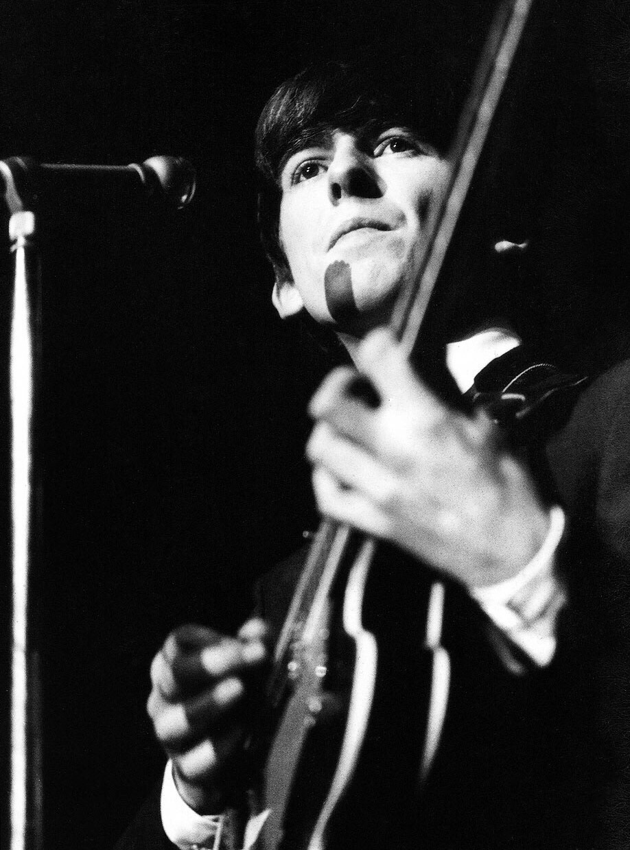 George Harrison during a UK tour, 1963.