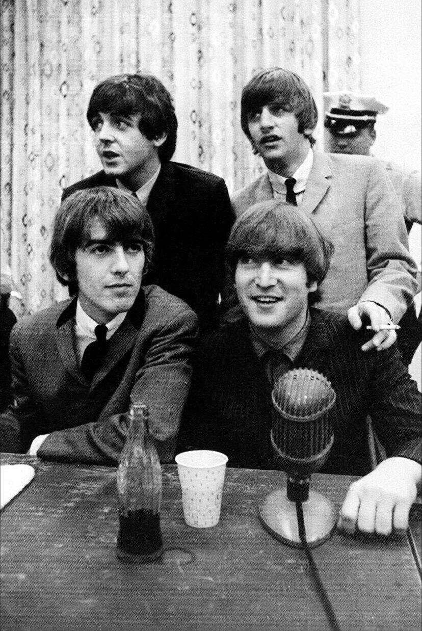 The Beatles at a US press conference, 1965.