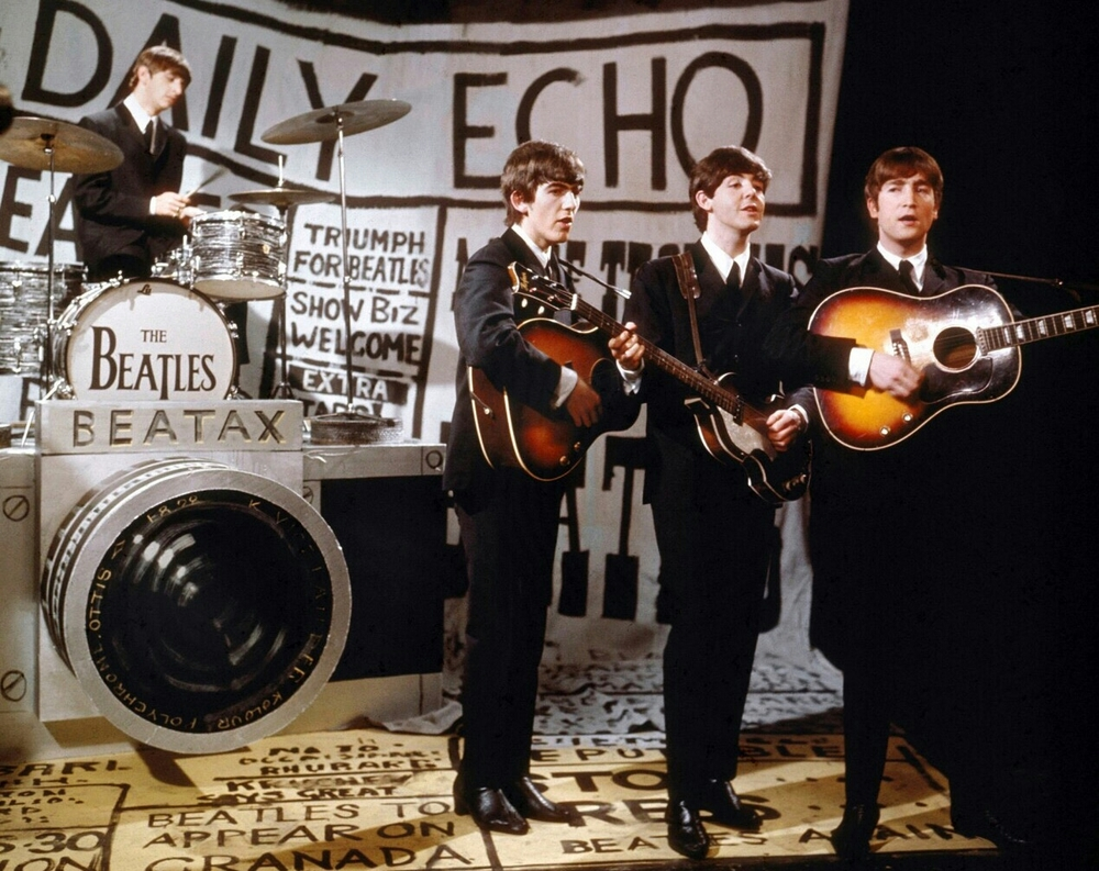The Beatles performing in 1963.