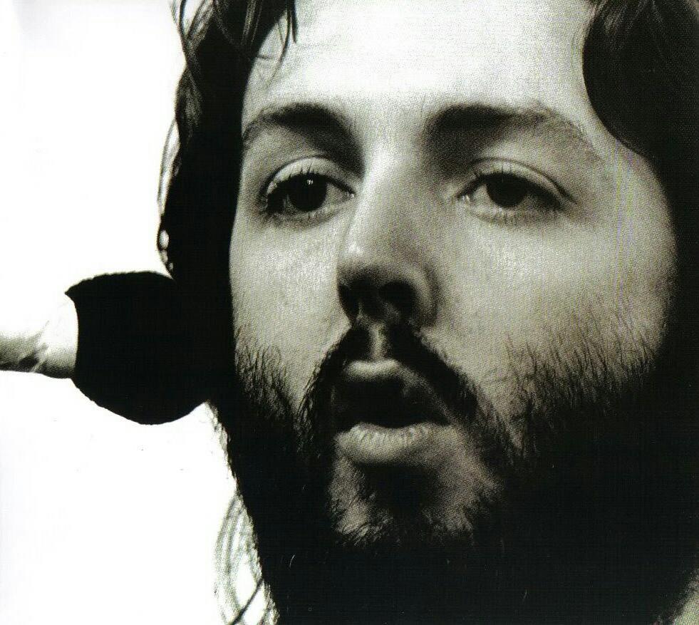 Paul McCartney recording Let It Be, 1969.