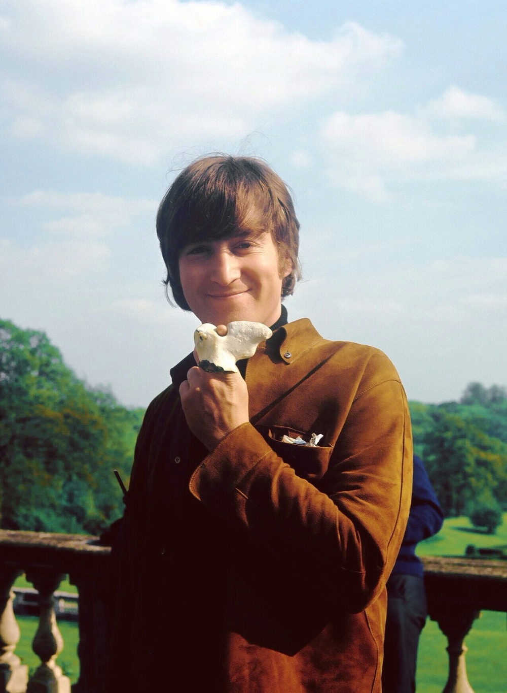 John Lennon filming Help! at Cliveden House, 1965.