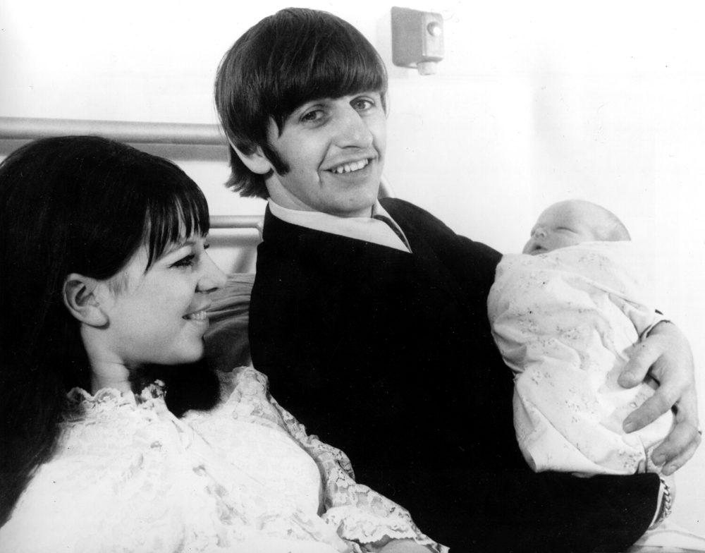 Ringo Starr with wife Maureen and newly born Zak, September 1965.