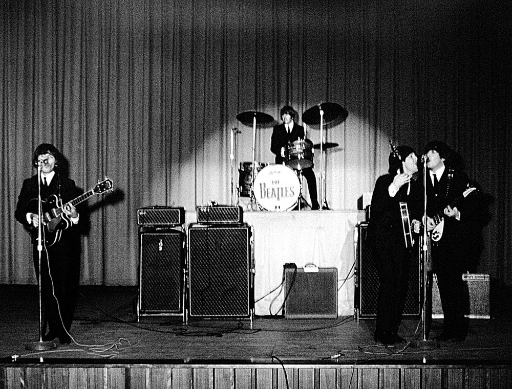 The Beatles performing at the Civic Centre, Baltimore, September 13th, 1964.
