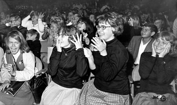 Screaming fans at the Civic Centre, Baltimore, September 13th, 1964.