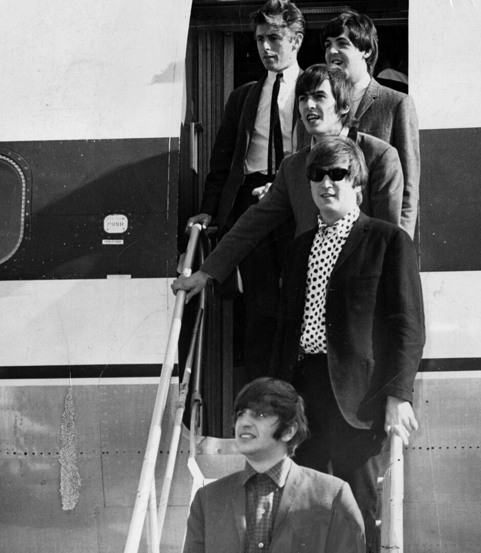 The Beatles arrive at Greater Pittsburgh Airport, September 14th 1964.