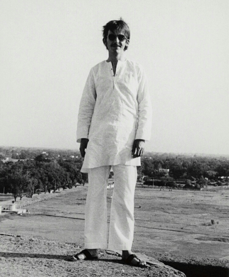 George Harrison in India, 1966.