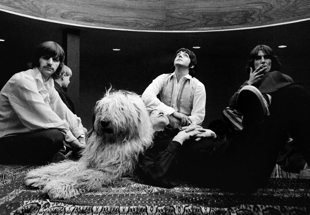 The Beatles at Paul's house during the Mad Day Out photo shoot, July 28th 1968.