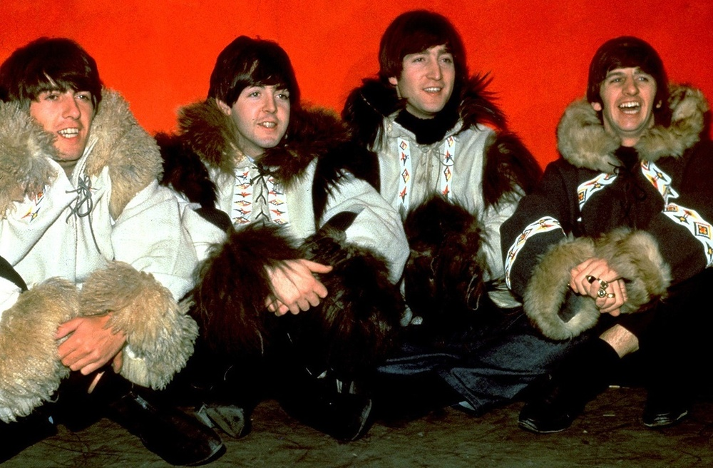 The Beatles at a 1965 photo shoot.