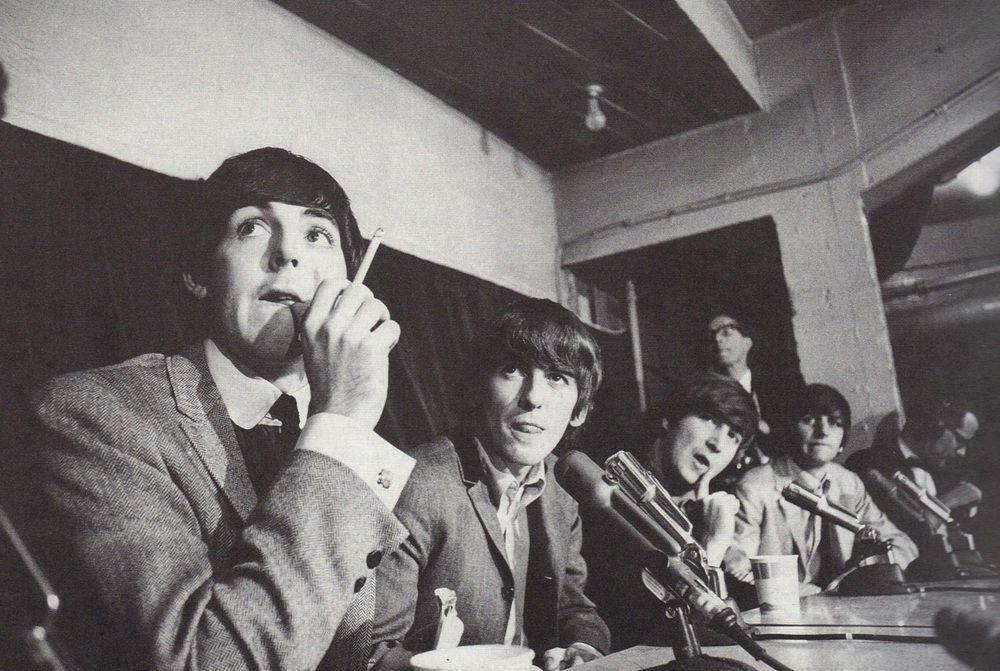 The Beatles holding a press conference in Kansas City, September 17th 1964.