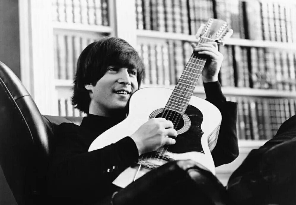 John Lennon performing  You've Got to Hide Your Love Away  for Help! 1965.