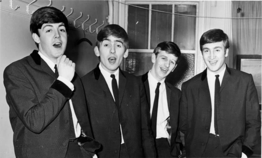 Rare photograph of the Beatles taken in 1963.