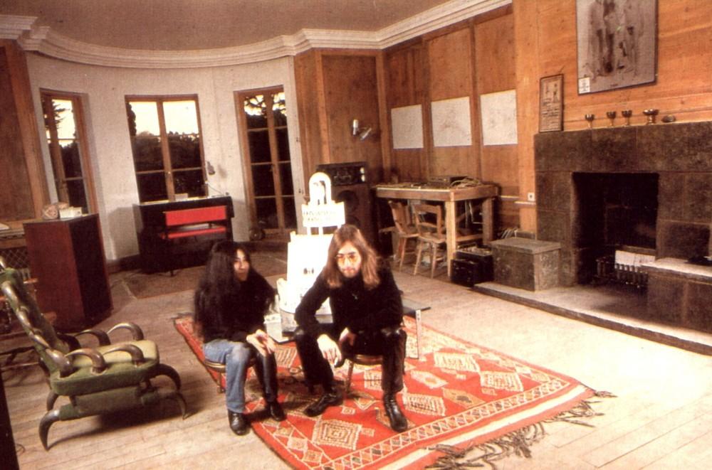 John Lennon and Yoko Ono at Tittenhurst Park, circa 1970.