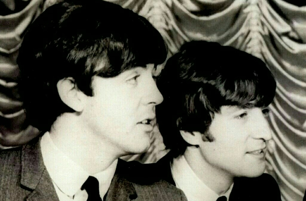 John Lennon and Paul McCartney photography's circa 1964.