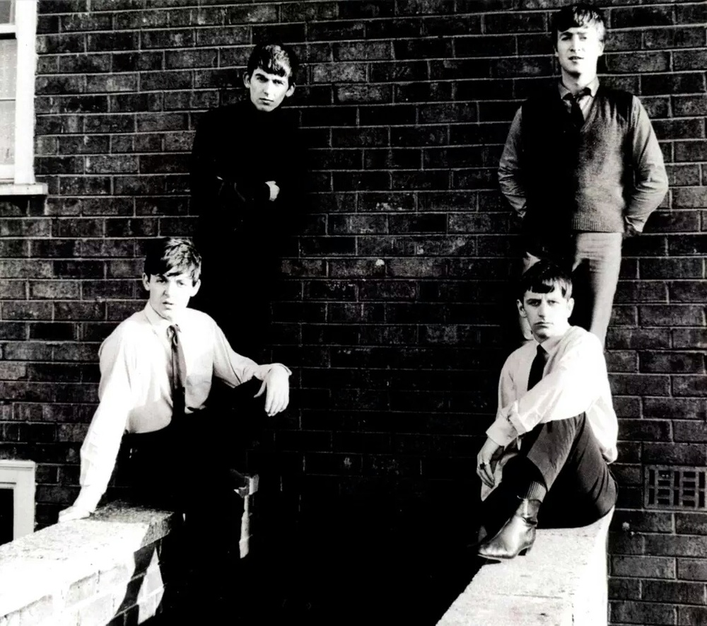 Early photo shoot with the Beatles, 1963.