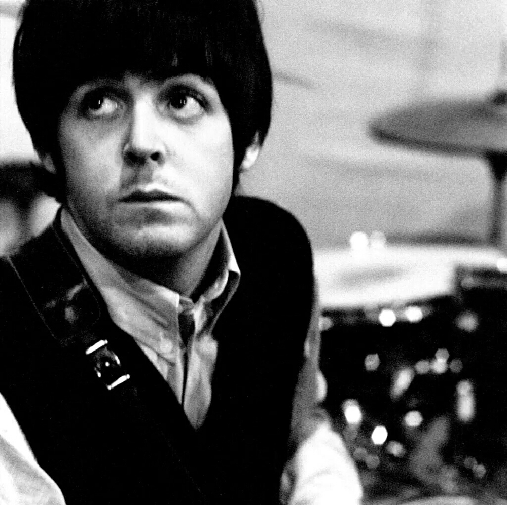 Paul McCartney at a Revolver session, 1966.