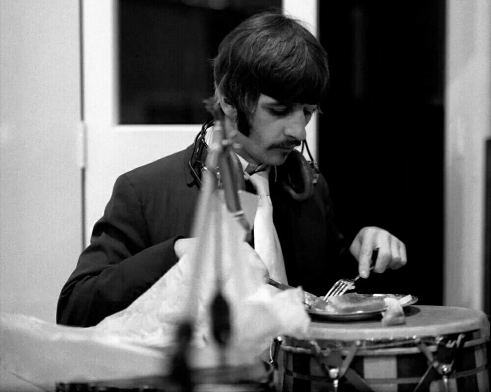 Ringo Starr during the recording of Sgt. Pepper's Lonely Hearts Club Band, 1967.