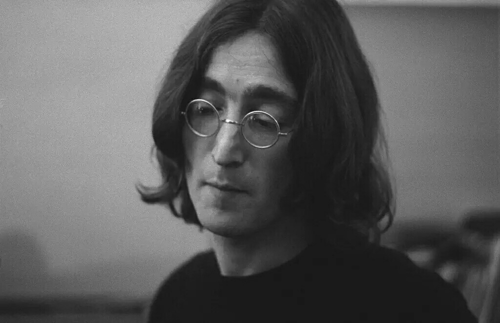 John Lennon working on the White Album, 1968.