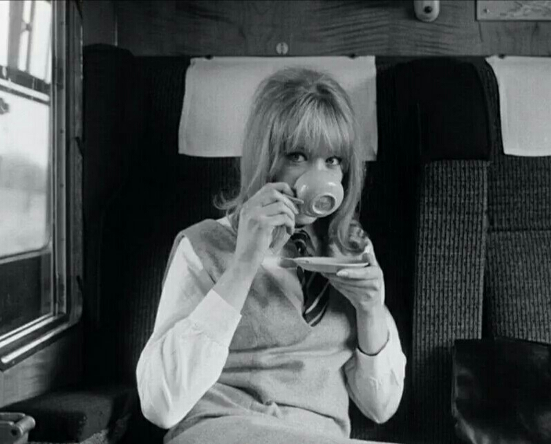 Pattie Boyd on the set of A Hard Day's Night, 1964.
