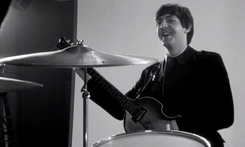 Paul McCartney on the set of A Hard Day's Night, 1964.