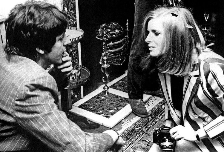 Paul McCartney and Linda Eastman at a promo party for Sgt. Pepper, May 19th, 1967.