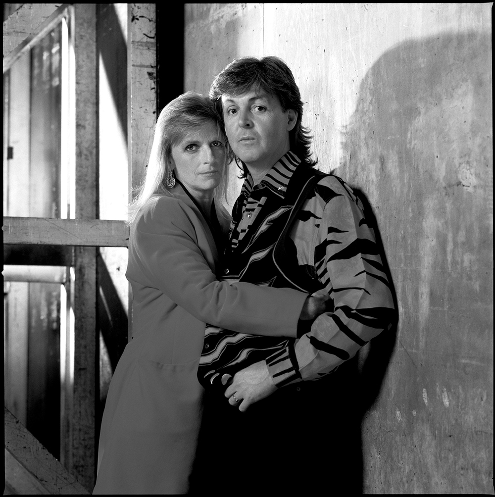 Paul and Linda McCartney. Photo by Timothy White.