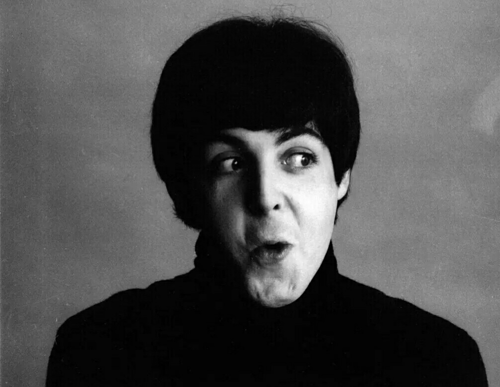 Paul McCartney photographed for A Hard Day's Night, 1964.