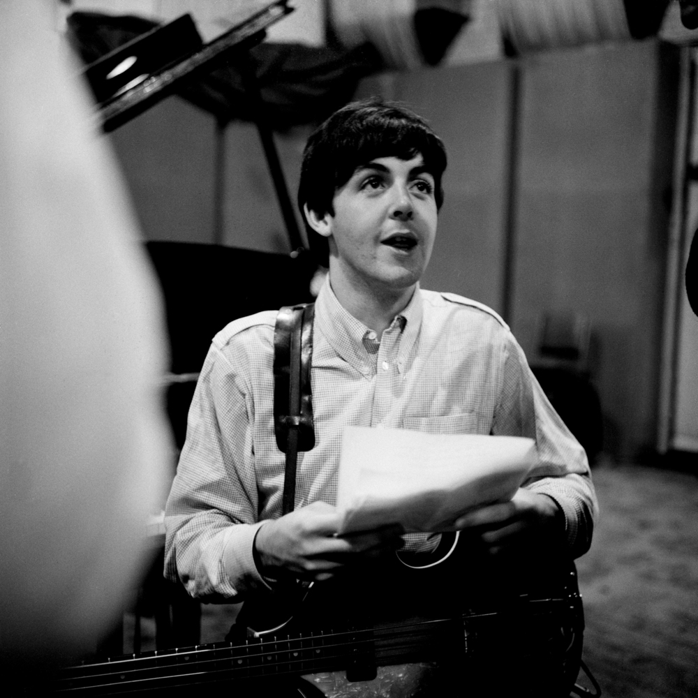 Paul McCartney working on A Hard Day's Night, 1964.