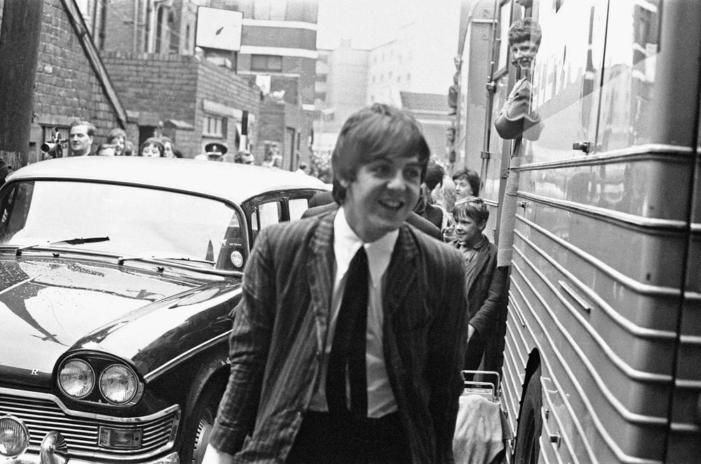 Paul McCartney attending the premiere of A Hard Day's Night, June 26th, 1964.