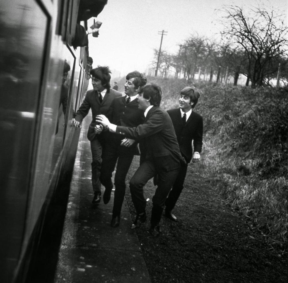 The Beatles filmingA Hard Day's Night,1964.