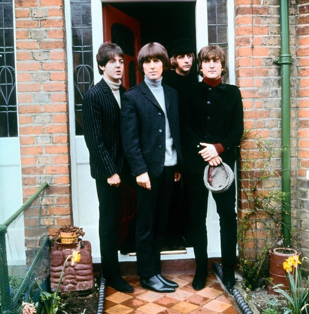 The Beatles in the set of Help! 1965.