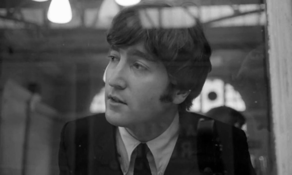 John Lennon on the set of A Hard Day's Night, 1964.