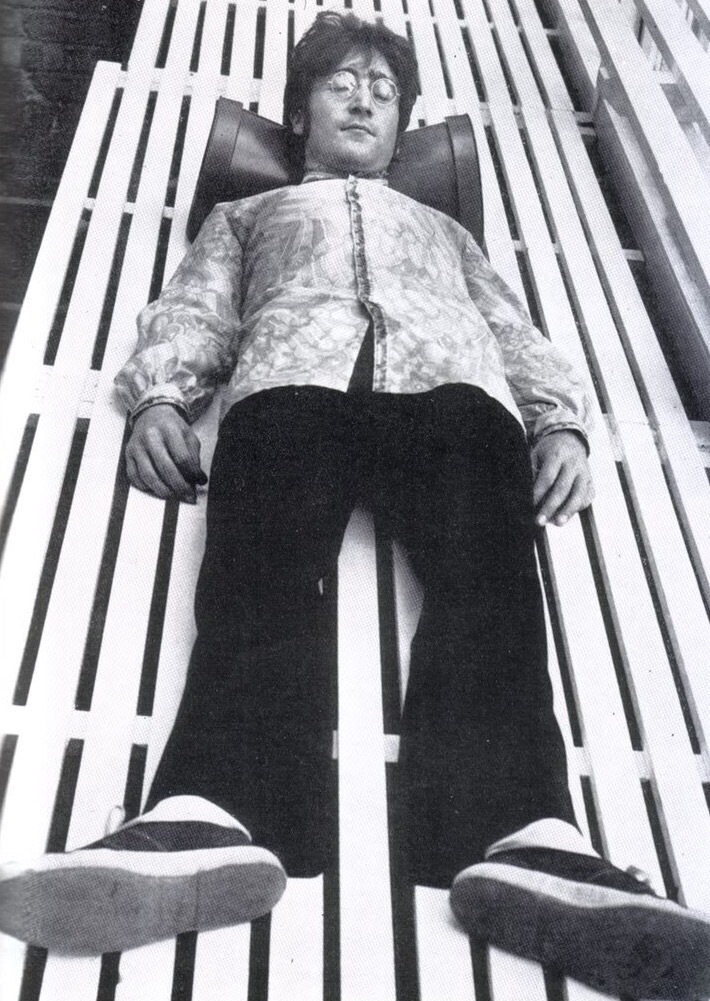 John Lennon at his home in Weybridge, 1967.