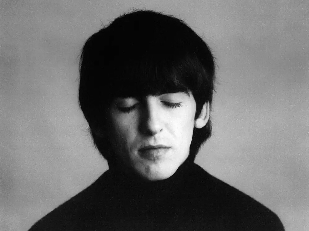 George Harrison photographed in 1964 for the cover of A Hard Day's Night.