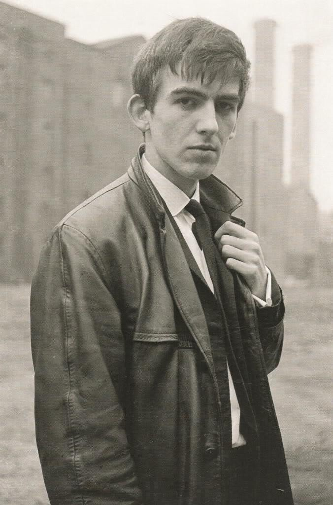 George Harrison poses for a photo in Liverpool, 1962.