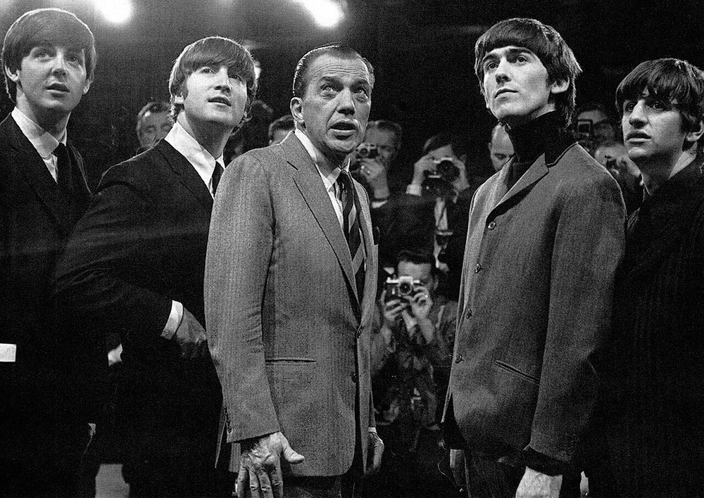 The Beatles on the Ed Sullivan Show, February, 1964.