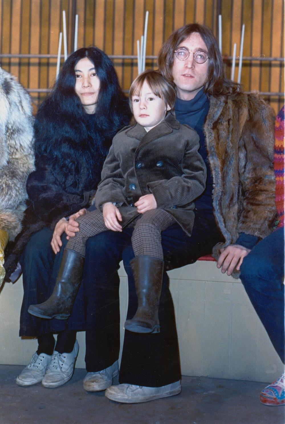 John, Yoko and Julian, 1968.