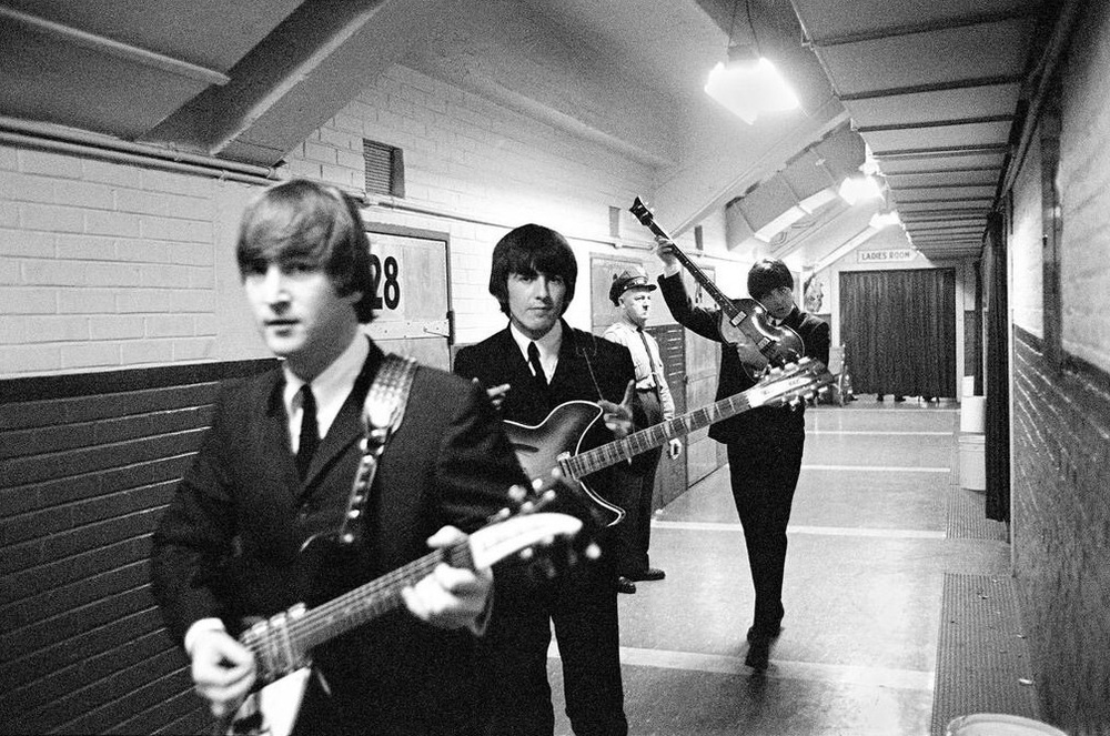 The Beatles backstage in the US, 1964.