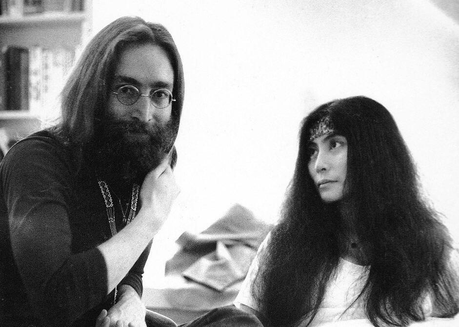 John Lennon and Yoko Ono, 1969.