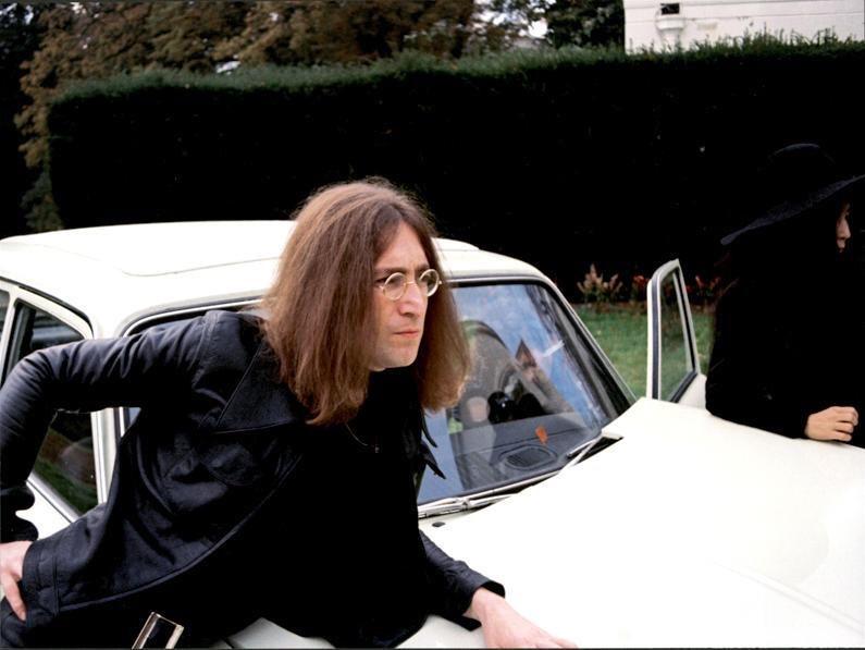 John Lennon and Yoko photographed in 1969 at Tittenhurst Park.
