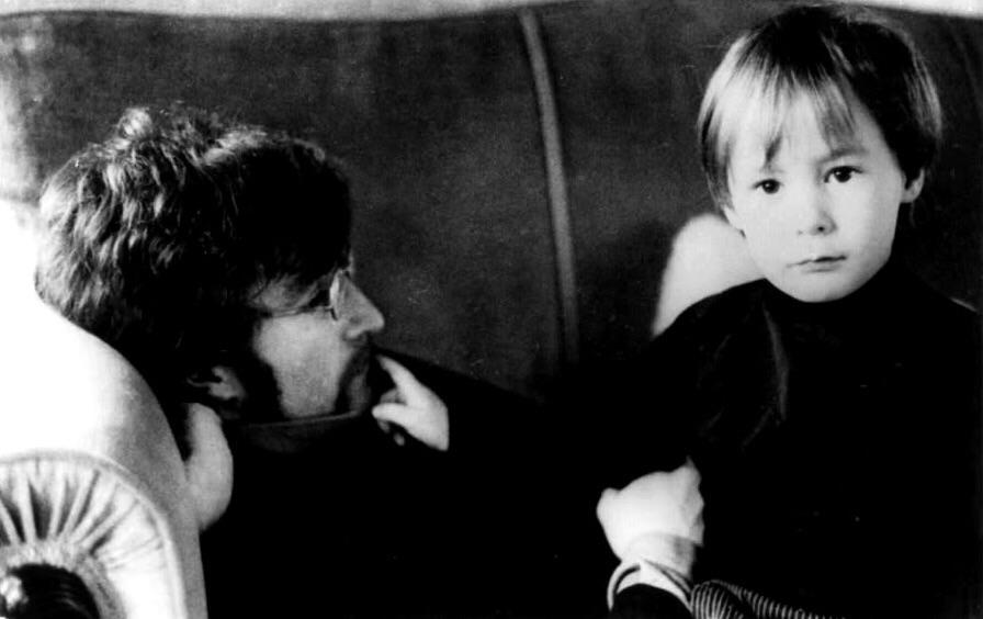 John and Julian Lennon in Weybridge, 1967.