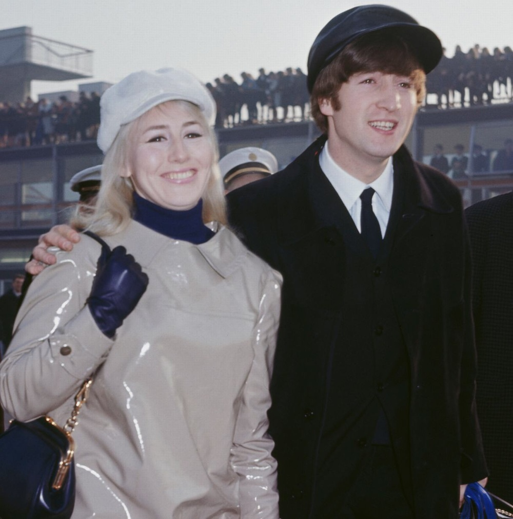 John and Cynthia Lennon arrive in the US for the Beatles' invasion of 1964.
