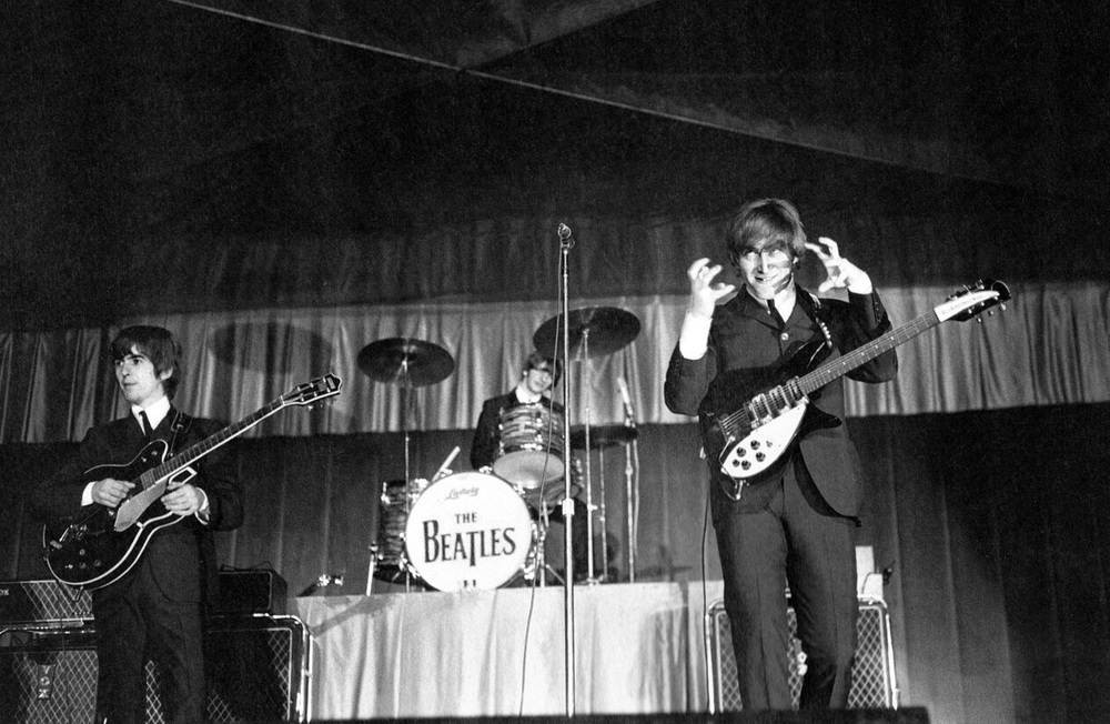 The Beatles live in America, 1964.