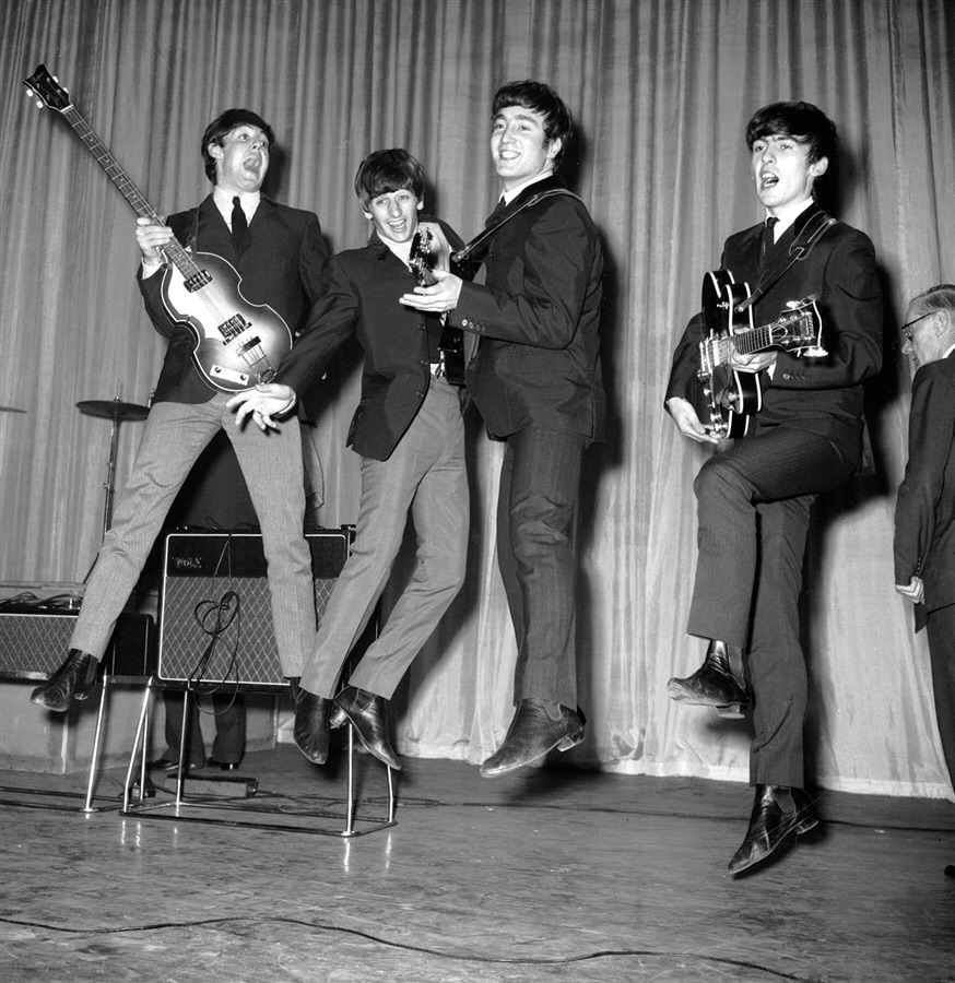 The Beatles rehearsing for their Royal Variety Performance at the Prince of Wales Theatre, November 4th, 1963.